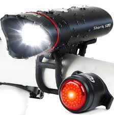 Usb Bicycle Light Set Shark 500 Usb Rechargeable Bike Light Set Cycletorch