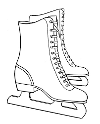 Small Picture Pair of Nice Winter Season Skate Boots Coloring Page NetArt