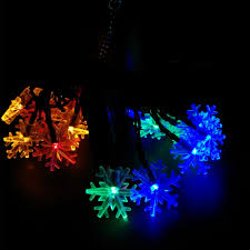 Snowflake Solar Christmas Lights Us 8 45 35 Off Yiyang Solar Snowflake Luminaria Lights 4 8m 10m 12m 22m Christmas Outdoor Garden Party Lights Xmas Decorations Luces Solar In