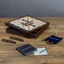Wooden Board Games Canada Buy Scrabble Deluxe Wooden Edition From Canada At Wellca Free 85