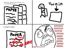 rage guy comics fffuuu 5000 words english paper rage