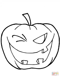 Small Picture Coloring Pages Cartoon Halloween Pumpkin Coloring Page Free