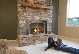 gas fireplace in home
