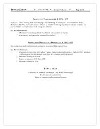 supervisor resume production supervisor resume