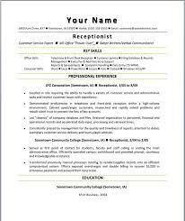receptionist resume skills tradinghub co