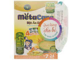 Bột ăn dặm Nutricare MetaCare 4 gói vị mặn hộp 200g (7 - 24 tháng)