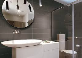 ... Elegant Italian Interior Bathrooms Designs Ideas For Decorating  Inspiration : Modern Grey Ceramic Tile Wall With