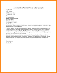 6 Administrative Assistant Cover Letter Examples Letter Adress