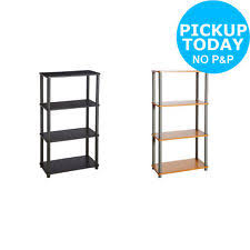 HOME Verona Shelving Unit   Choice Of Black / Beech Effect  From Argos On  Ebay