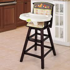 com summer infant classic comfort wood high chair fox and friends espresso stain childrens highchairs baby