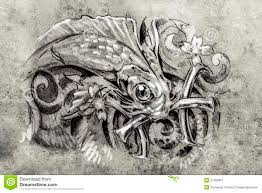 татуируйте искусство эскиз рыбы искусство татуировки эскиз рыбы