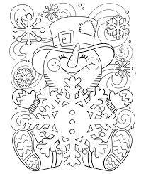 Kleurplaat Een Vrolijke Sneeuwpop Crayolanl