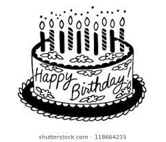 birthday cake clip art. Contemporary Clip Happy Birthday Cake  Retro Clipart Illustration Inside Clip Art B
