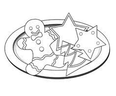 christmas cookie clip art black and white. Simple White On Christmas Cookie Clip Art Black And White 0
