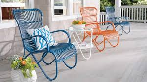 modern metal outdoor furniture photo. Image Of: Colorful Vintage Metal Outdoor Furniture Modern Photo Y
