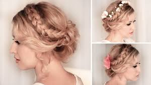 Hairstyle For Long Hairstyle braided updo hairstyle for mediumlong hair tutorial wedding 5786 by stevesalt.us