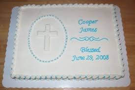 Baptismal Sheet Cake Decorating Idea Love The Simple But Elegant
