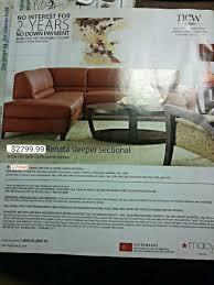 Macy Renata Leather Sectional Sofa Sleeper