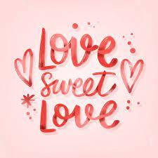 love sweet love lettrage de mariage