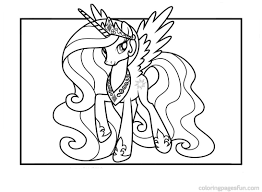 Baby Princess Celestia Coloring Page Free Sheets My Little Within