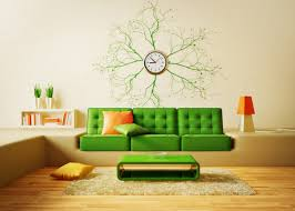 creative living room ideas design:  cute creative living room decorations dark green fabric sofa green high gloss wood unique coffee table