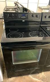 black glass top stove whirlpool works great for in cleaning