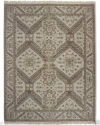 restoration hardware stratto sand hand knotted persian rug 6x9 wool 2695 msrp