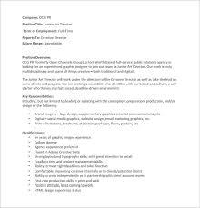 junior art director job description pdf free download service director job description