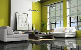 Zen Living Room In Lime Green Minimal White Furniture Super