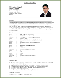 Example Of Resume In English Curriculum Vitae Example English Savebtsaco 15
