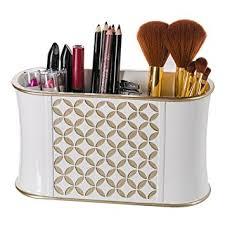 Diamond Lattice Makeup Brush Holder, Sink Cabinet Vanity Organizers-  Decorative Bathroom Countertop Makeup Organizer