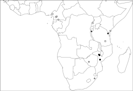 Map Of Sub Saharan Africa Showing The Known Distributio Open I