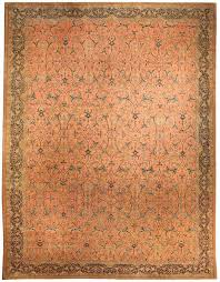 antique rug persian tabriz pink botanical bb3376 17x13