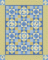 Sew in Love {with Fabric}: Sunshine and blue skies & Download the free quilt pattern here. Adamdwight.com