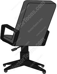 office chair back. Back View Of An Office Chair Cartoon Clipart