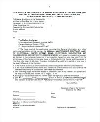 Air Conditioner Amc Agreement Format Electrical Maintenance Contract Form Annual Template Format For Air
