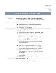 Sample Resume For Office Manager Position Job Description Image