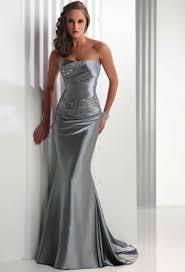 vintage strapless satin silver wedding dresses dresscab
