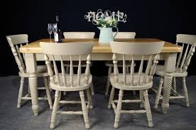 farmhouse dining table and 6 chairs. picture of unique 5ft 6in pine farmhouse table + 6 chairs dining and i
