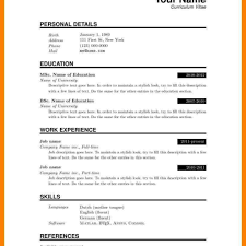 Resume Templates For Pages Template Adisagt
