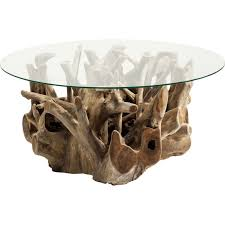 wooden coffee table roots kare design