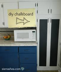 Chalkboard In Kitchen Diy Chalkboard Paint In Kitchen