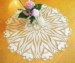 round table toppers round table toppers crochet crocus pattern doily topper 1 2 by square for round table toppers