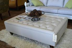 white leather coffee table coffee table image of white leather ottoman coffee table round gray storage