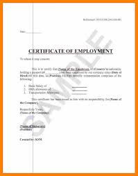 Certificate Of Employment With Compensation Sample Philippines Best