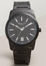 men s kenneth cole stainless steel diamond watch 10025895 men s kenneth cole black stainless steel diamond watch 10025895
