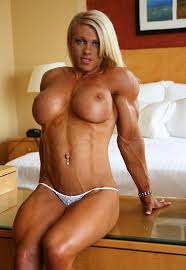 Blonde muscular women naked