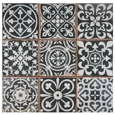 black and white tile pattern. Perfect Pattern EliteTile Faventie Nero 13 With Black And White Tile Pattern 6
