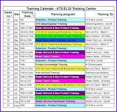 Training Calendar Template Excel Running Training Calendar Template