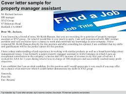 Resume Cover Letter For Assistant Property Manager Assistant